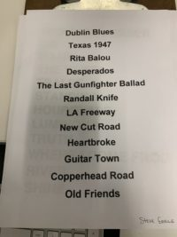 45 Steve Earle Set List