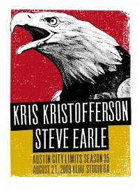 Kris Kristofferson and Steve Earle Season 35 by Print Mafia