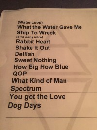 Florence and the Machine Taping Setlist