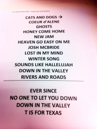 The Head and the Heart Setlist
