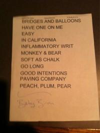 Joanna Newsom Setlist