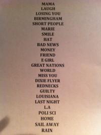 Randy Newman Setlist