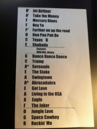 The Steve Miller Band Setlist