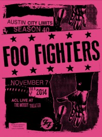 Foo Fighters Poster by Mark Pedini and Jared Connor of Mexican Chocolate