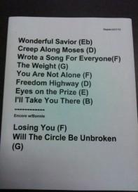 Mavis Staples setlist 06-27-12