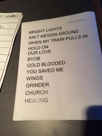 Gary Clark Jr. Taping Set list