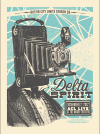 Delta Spirit poster by Justin Helton