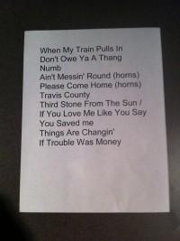 Gary Clark Jr. taping setlist