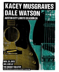 Kacey Musgraves and Dale Watson by Print Mafia