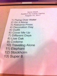 Jason Isbell set list