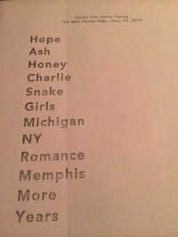 The Milk Carton Kids set list