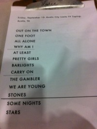 fun. set list
