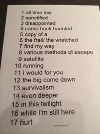 Nine Inch Nails ACL TV Set List 11/4/13
