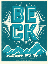 Beck poster by Erick Montes