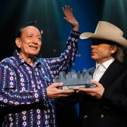 Flaco Jimenez & Dwight Yoakam ©KLRU photo by Scott Newton