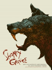 Shakey Graves poster by Jim Vogl (bungaloo)