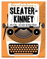Sleate-Kinney poster by Jay Vollmar