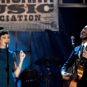 Esme Patterson and Shakey Graves. (Photo by Rick Diamond/Getty Images for Americana Music)