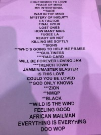 Lauryn Hill Set List
