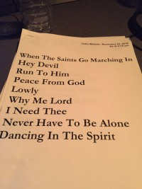 CeCe Winans Taping Setlist