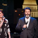 2016 ACL Hall of Fame New Year's Eve | Hosts Megan Mulally & Nick Offerman ©KLRU photo by Scott Newton