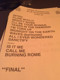 St Paul and the Broken Bones Taping Setlist
