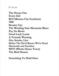 Turnpike Troubadours Taping Set List