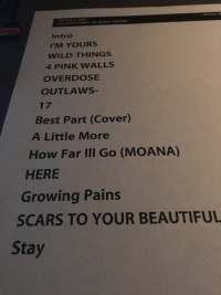 Alessia Cara Taping Set List