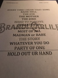 Brandi Carlile Taping Set List