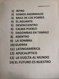 Residente Taping Set List
