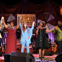 Brandi Carlile, Irma Thomas, Courtney Marie Andrews, Tanya Blount and Michael Trotter Jr. of The War and Treaty | 2018 Americana Music Honors And Awards (Photo by Erika Goldring/Getty Images for Americana Music Association)