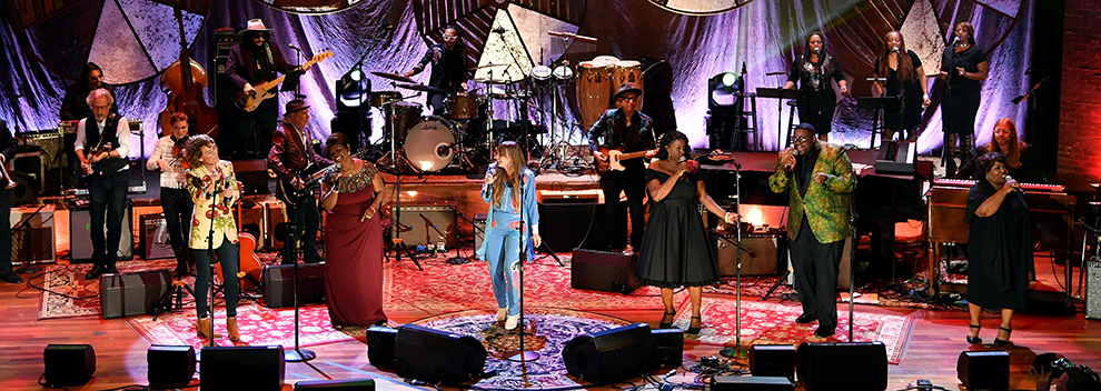 Brandi Carlile, Irma Thomas, Courtney Marie Andrews, Tanya Blount and Michael Trotter Jr. of The War and Treaty and Ann McCrary of The McCrary Sisters | 2018 Americana Music Honors And Awards