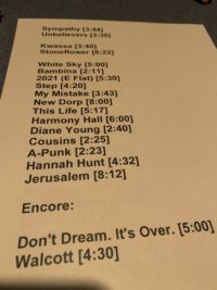 45 Vampire Weekend Taping Set List