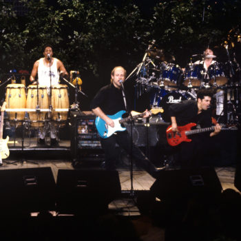 Little Feat on ACL, 1991 - Paul Barrere, center. Photo by Scott Newton