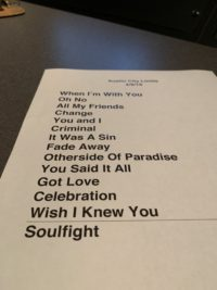 Revivalists Taping Set List
