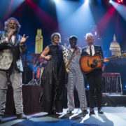 Host Robert Earl Keen and 2019 ACL Hall of Fame Inductees Shawn Colvin, Buddy Guy and Lyle Lovett ©️AustinPBS photo by Scott Newton